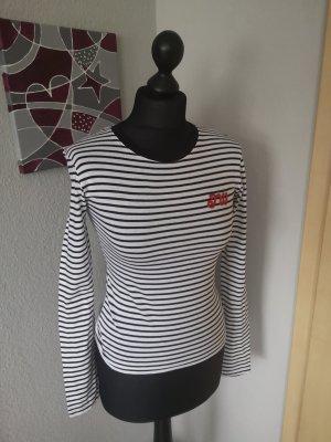 Jack Wills Damen Shirt Langarmshirt schwarz weiß gestreift Größe xs