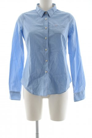 Jack Wills Langarmhemd blau Streifenmuster Business-Look