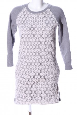 Jack Wills Sweatkleid hellgrau-weiß meliert Casual-Look