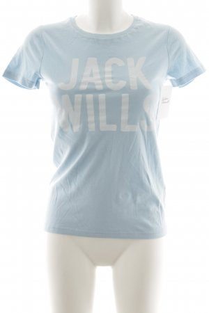 Jack Wills T-Shirt hellblau Casual-Look