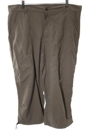 Jack Wolfskin Pantalone a 3/4 grigio chiaro caratteri ricamati stile casual