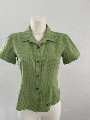 Jack Wolfskin Short Sleeved Blouse black-green