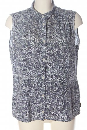 Jack Wolfskin Blouse Top blue-white allover print business style