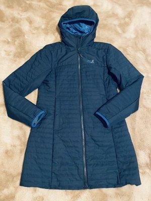 Jack Wolfskin Abrigo de entretiempo azul oscuro-azul neón