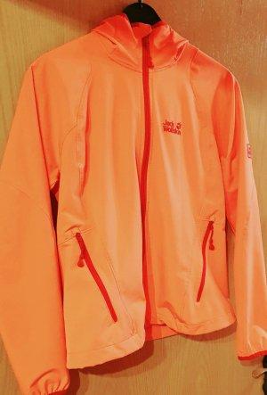Jack Wolfskin Softshelljack oranje-zalm