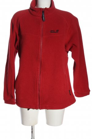 Jack Wolfskin Fleece Jackets red embroidered lettering casual look