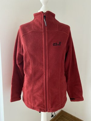 Jack Wolfskin Pullover in pile rosso scuro