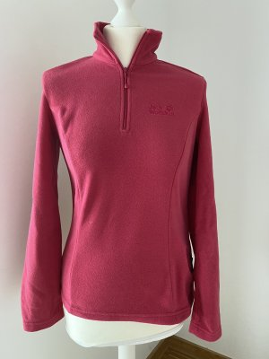 Jack Wolfskin Pullover in pile rosso lampone