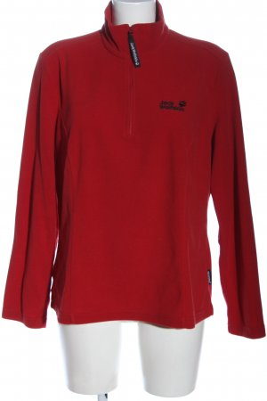 Jack Wolfskin Pullover in pile rosso stile casual
