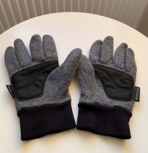 Jack Wolfskin Knitted Gloves dark grey-black
