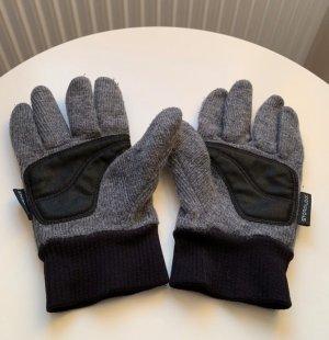Jack Wolfskin Gebreide handschoenen donkergrijs-zwart