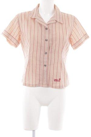 Jack Wolfskin Hemd-Bluse nude Streifenmuster Casual-Look