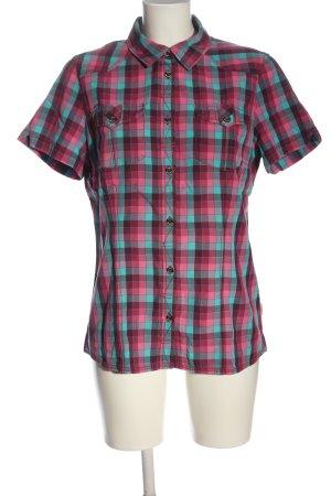 Jack Wolfskin Lumberjack Shirt pink-turquoise allover print elegant