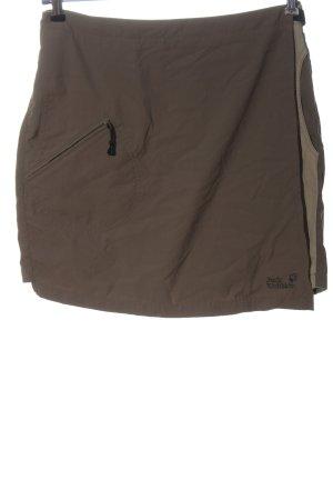 Jack Wolfskin Jupes-culottes brun-blanc cassé lettrage brodé