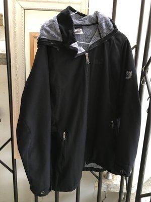 100% Fashion Giacca in pile nero