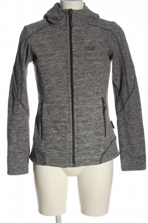 Jack Wolfskin Hooded Sweatshirt light grey flecked casual look