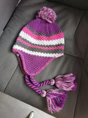 Jack Wolfskin Knitted Hat violet-dark violet wool