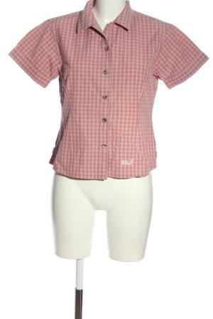 Jack Wolfskin Kurzarmhemd pink Allover-Druck Casual-Look
