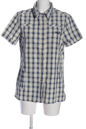 Jack Wolfskin Short Sleeve Shirt blue-natural white allover print business style