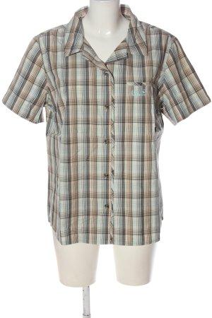 Jack Wolfskin Short Sleeve Shirt check pattern casual look