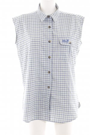 Jack Wolfskin Short Sleeve Shirt natural white-blue check pattern casual look