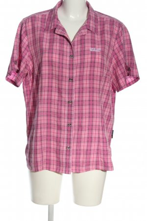 Jack Wolfskin Short Sleeve Shirt pink allover print casual look