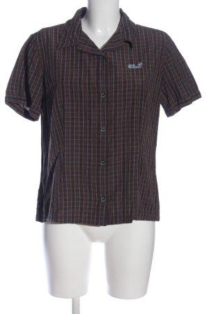 Jack Wolfskin Short Sleeve Shirt brown allover print casual look
