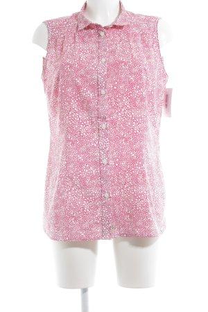Jack Wolfskin Kurzarmhemd rosa-weiß Punktemuster Casual-Look