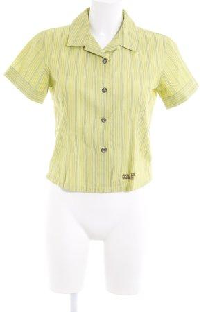 Jack Wolfskin Kurzarmhemd wiesengrün Streifenmuster Casual-Look