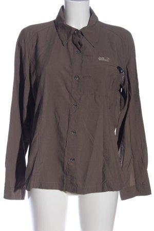 Jack Wolfskin Long Sleeve Shirt brown business style