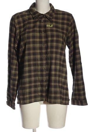 Jack Wolfskin Camicia a maniche lunghe motivo a quadri stile casual