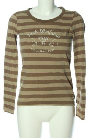 Jack Wolfskin Longsleeve brown printed lettering casual look