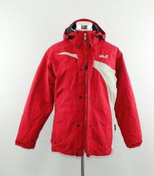 Jack Wolfskin Outdoor Jacket natural white-red polyamide