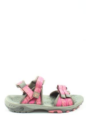 Jack Wolfskin Sandale d'extérieur gris clair-rose style décontracté
