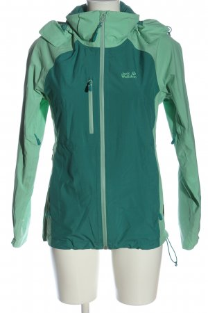 Jack Wolfskin Outdoor Jacket green-blue themed print casual look