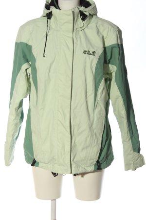 Jack Wolfskin Giubbino verde-bianco sporco stile casual