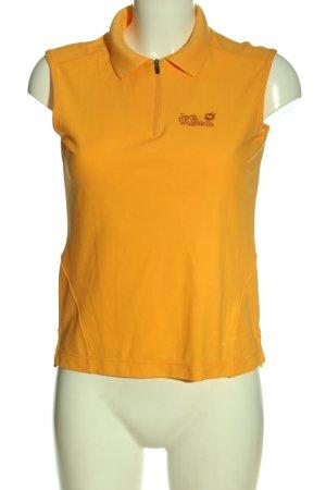 Jack Wolfskin Polo arancione chiaro caratteri ricamati stile casual
