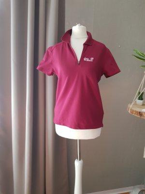 Jack Wolfskin Camiseta tipo polo rojo frambuesa Poliéster