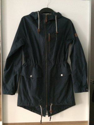 Jack Wolfskin Heavy Raincoat dark blue mixture fibre