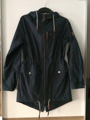 Jack Wolfskin Manteau de pluie bleu foncé tissu mixte