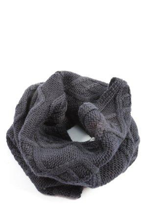 Jack Wolfskin Écharpe tube gris clair torsades style décontracté