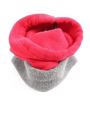 Jack Wolfskin Écharpe tube rouge-gris clair style décontracté