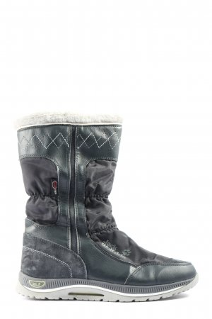 Jack Wolfskin Snow Boots black graphic pattern athletic style