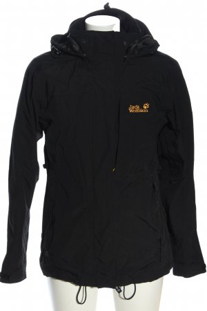 Jack Wolfskin Sports Jacket black embroidered lettering casual look
