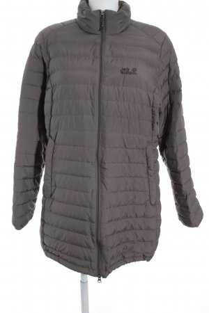 Jack Wolfskin Quilted Coat light brown quilting pattern casual look
