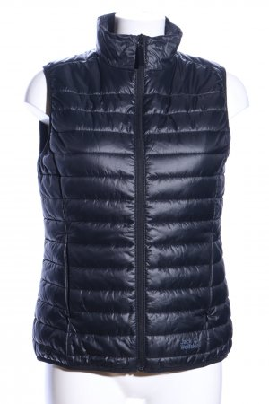 Jack Wolfskin Quilted Gilet blue quilting pattern casual look