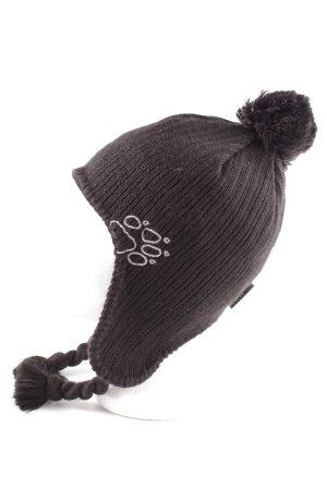 Jack Wolfskin Chapeau en tricot brun style décontracté