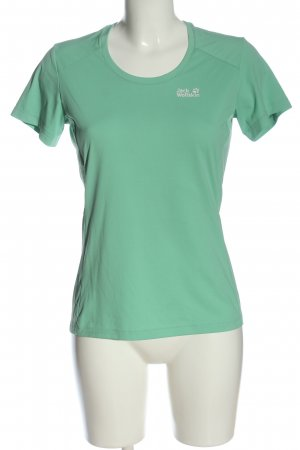 Jack Wolfskin T-Shirt turquoise-white allover print casual look