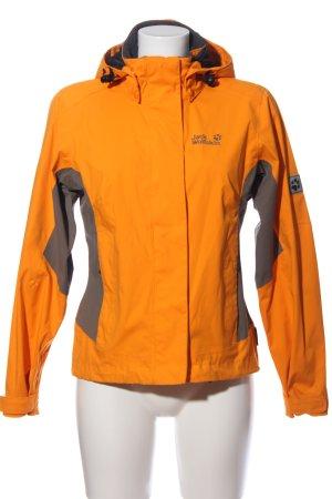 Jack Wolfskin Giacca a vento arancione chiaro-grigio chiaro stile casual