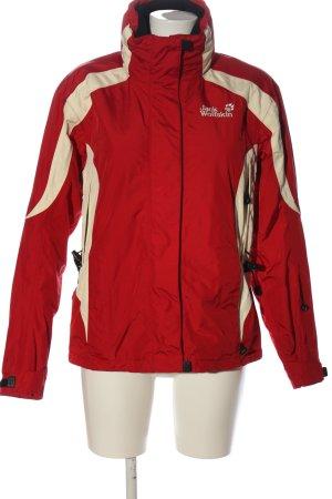 Jack Wolfskin Winterjacke rot-creme sportlicher Stil